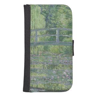 Coque Avec Portefeuille Pour Galaxy S4 Claude Monet | l'étang de nénuphar : Harmonie