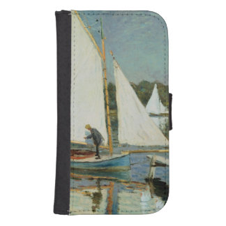 Coque Avec Portefeuille Pour Galaxy S4 Claude Monet | naviguant à Argenteuil, c.1874
