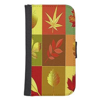 Coque Avec Portefeuille Pour Galaxy S4 Couleurs en automne