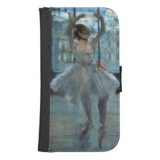 Coque Avec Portefeuille Pour Galaxy S4 Danseur d'Edgar Degas | devant une fenêtre