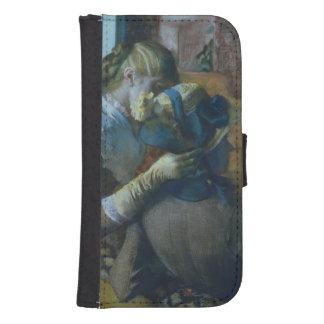 Coque Avec Portefeuille Pour Galaxy S4 Edgar Degas | deux femmes