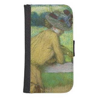 Coque Avec Portefeuille Pour Galaxy S4 Edgar Degas | deux femmes se penchant sur une
