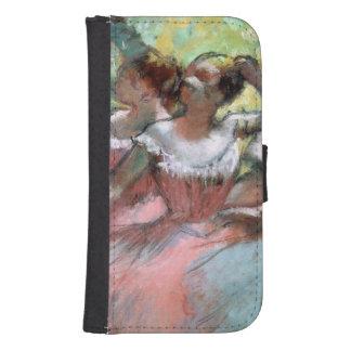 Coque Avec Portefeuille Pour Galaxy S4 Edgar Degas | quatre ballerines sur l'étape
