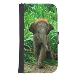 Coque Avec Portefeuille Pour Galaxy S4 Éléphant de bébé