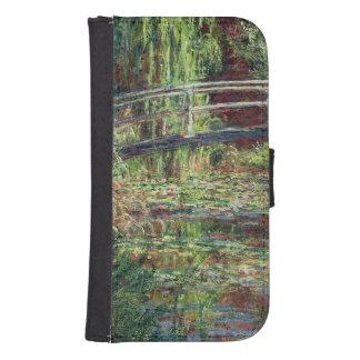 Coque Avec Portefeuille Pour Galaxy S4 Étang de nénuphar de Claude Monet | : Harmony