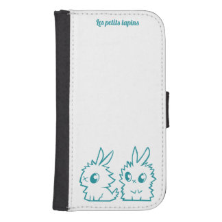 Coque Avec Portefeuille Pour Galaxy S4 Étui Samsung Galaxy S4 Les petits lapins