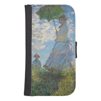 Coque Avec Portefeuille Pour Galaxy S4 Femme de Claude Monet | avec un parasol