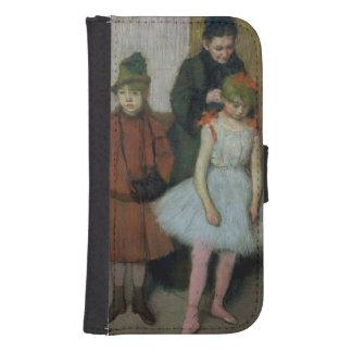 Coque Avec Portefeuille Pour Galaxy S4 Femme d'Edgar Degas | avec deux petites filles