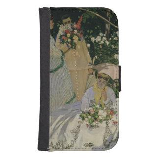Coque Avec Portefeuille Pour Galaxy S4 Femmes de Claude Monet | dans le jardin