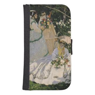 Coque Avec Portefeuille Pour Galaxy S4 Femmes de Claude Monet | dans le jardin, 1866
