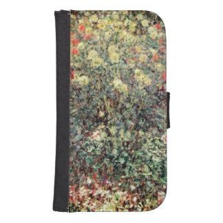 Coque Avec Portefeuille Pour Galaxy S4 Femmes de Claude Monet | en fleurs, 1875