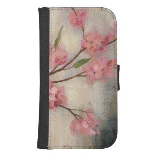 Coque Avec Portefeuille Pour Galaxy S4 Fleurs de cerisier