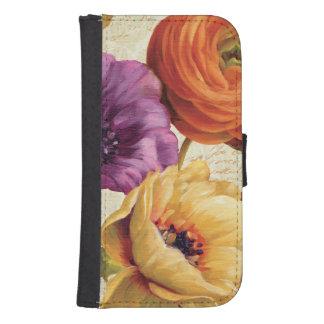 Coque Avec Portefeuille Pour Galaxy S4 Floral en pleine floraison