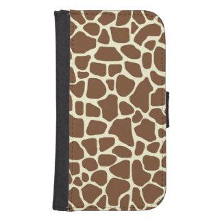 Coque Avec Portefeuille Pour Galaxy S4 Girafe