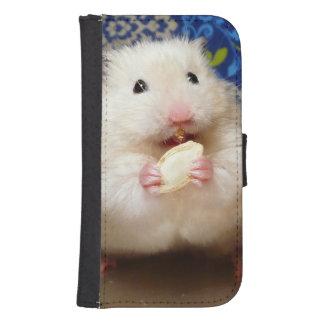 Coque Avec Portefeuille Pour Galaxy S4 Hamster syrien pelucheux Kokolinka mangeant une