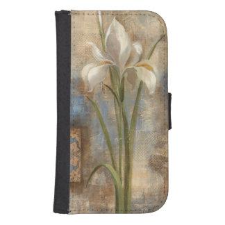 Coque Avec Portefeuille Pour Galaxy S4 Iris et tuile