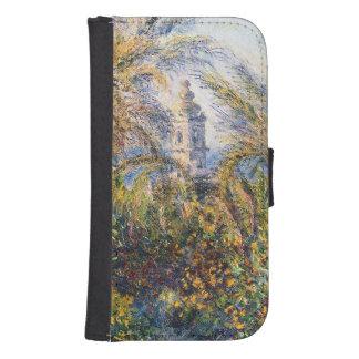 Coque Avec Portefeuille Pour Galaxy S4 Jardin de Claude Monet | dans Bordighera