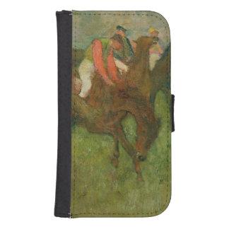 Coque Avec Portefeuille Pour Galaxy S4 Jockeys d'Edgar Degas |, 1886-90