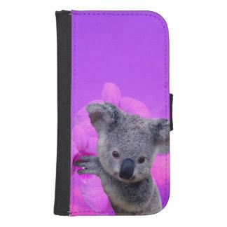 Coque Avec Portefeuille Pour Galaxy S4 Koala et orchidées