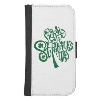 Coque Avec Portefeuille Pour Galaxy S4 Le jour de St Patrick heureux