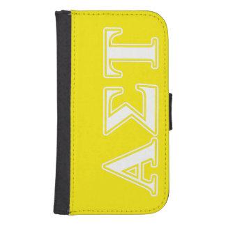 Coque Avec Portefeuille Pour Galaxy S4 Lettres blanches et jaunes d'alpha Tau de sigma
