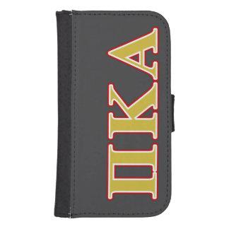 Coque Avec Portefeuille Pour Galaxy S4 Lettres de rouge et d'or de Kappa de pi alpha