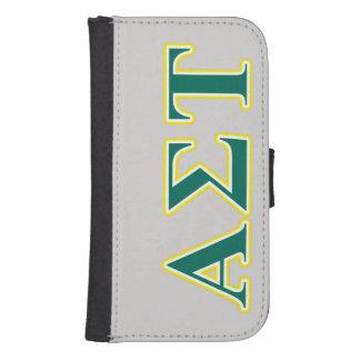 Coque Avec Portefeuille Pour Galaxy S4 Lettres jaunes et vertes d'alpha Tau de sigma