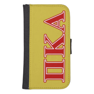 Coque Avec Portefeuille Pour Galaxy S4 Lettres rouges de Kappa de pi alpha