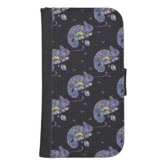 Coque Avec Portefeuille Pour Galaxy S4 Lézard de Zentangle
