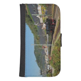 Coque Avec Portefeuille Pour Galaxy S4 Locomotive à vapeur avec le train spécial dans les