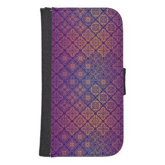 Coque Avec Portefeuille Pour Galaxy S4 Motif antique royal de luxe floral