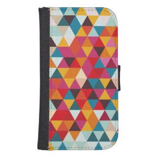 Coque Avec Portefeuille Pour Galaxy S4 Motif géométrique de triangle de hippie - couleur