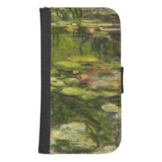Coque Avec Portefeuille Pour Galaxy S4 Nénuphars de Claude Monet |