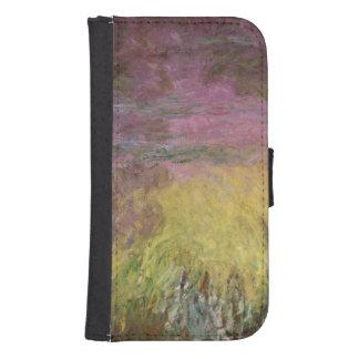 Coque Avec Portefeuille Pour Galaxy S4 Nénuphars de Claude Monet | au coucher du soleil