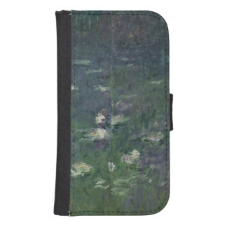 Coque Avec Portefeuille Pour Galaxy S4 Nénuphars de Claude Monet | : Matin, 1914-18