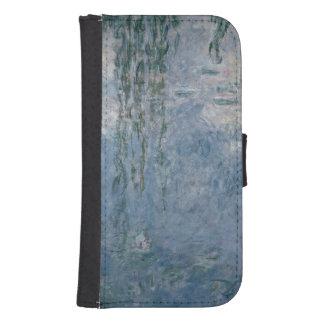 Coque Avec Portefeuille Pour Galaxy S4 Nénuphars de Claude Monet | : Saules pleurants,