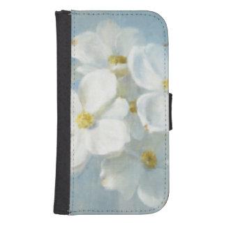 Coque Avec Portefeuille Pour Galaxy S4 Panneau blanc de fleur