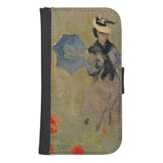 Coque Avec Portefeuille Pour Galaxy S4 Pavots sauvages de Claude Monet |, près