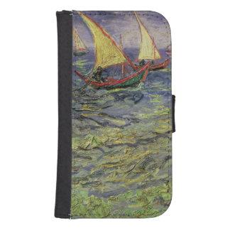 Coque Avec Portefeuille Pour Galaxy S4 Paysage marin de Vincent van Gogh | chez