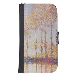 Coque Avec Portefeuille Pour Galaxy S4 Peupliers de Claude Monet | sur les banques de