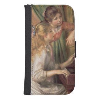 Coque Avec Portefeuille Pour Galaxy S4 Pierre jeunes filles de Renoir un | au piano