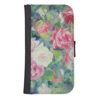 Coque Avec Portefeuille Pour Galaxy S4 Pierre roses 2 de Renoir un |