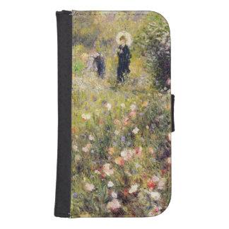 Coque Avec Portefeuille Pour Galaxy S4 Pierre un paysage d'été de Renoir |