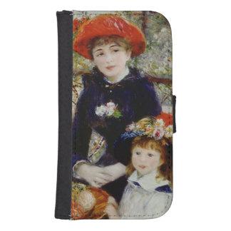 Coque Avec Portefeuille Pour Galaxy S4 Pierre un Renoir | deux soeurs, ou sur la terrasse