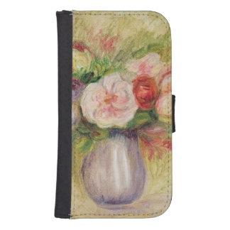 Coque Avec Portefeuille Pour Galaxy S4 Pierre un vase à Renoir | de fleurs