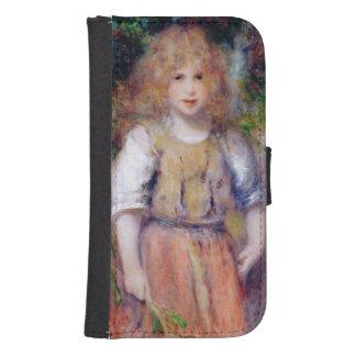 Coque Avec Portefeuille Pour Galaxy S4 Pierre une fille gitane de Renoir |