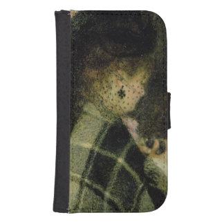 Coque Avec Portefeuille Pour Galaxy S4 Pierre une jeune femme de Renoir | avec un petit