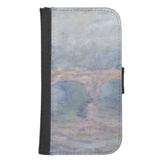 Coque Avec Portefeuille Pour Galaxy S4 Pont de Claude Monet | Waterloo, Londres, au