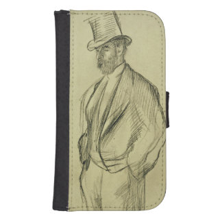 Coque Avec Portefeuille Pour Galaxy S4 Portrait d'Edgar Degas | de Ludovic Halevy