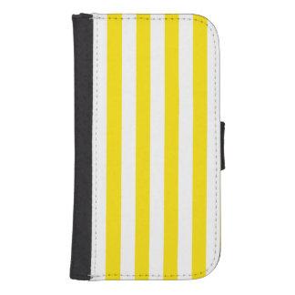 Coque Avec Portefeuille Pour Galaxy S4 Rayures jaunes verticales
